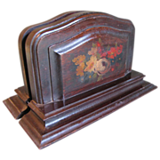 REDUCED Fantastic Find.  Lovely Vintage Painted Wood Bookends
