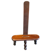 SOLD Most Unusual Wood Table-Top Easel, Three Turned Legs