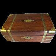 Lovely Antique Campaign Writing Box, Lap Desk