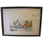 "C. 1821 Colored Engraving Henry Alken ""A Thing of Last Consequence"""