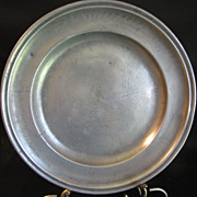 "Antique French Pewter Charger (11 1/4"") Hallmarked"