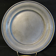 Vintage Round French Pewter Plate