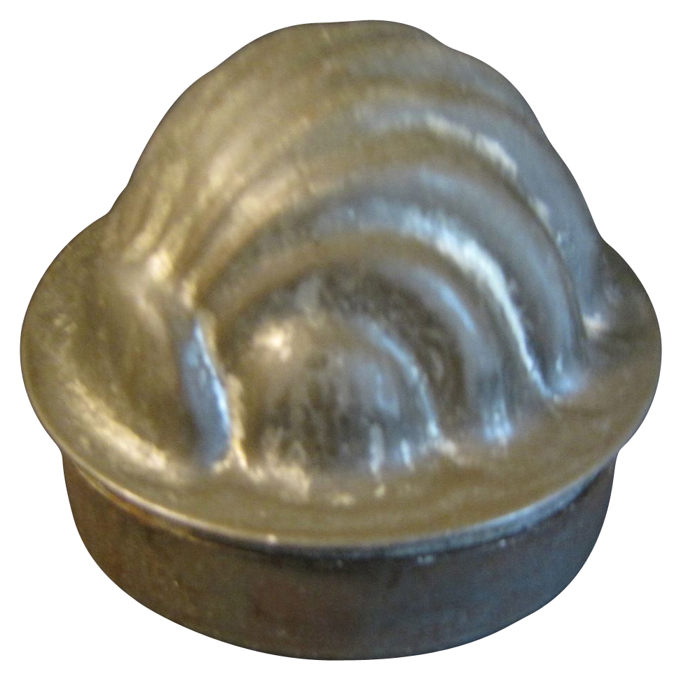 Small Individual Tin Pudding/Jelly Mold, SHELL, England