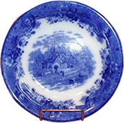 Flow Blue Vegetable Bowl COUNTRY SCENES