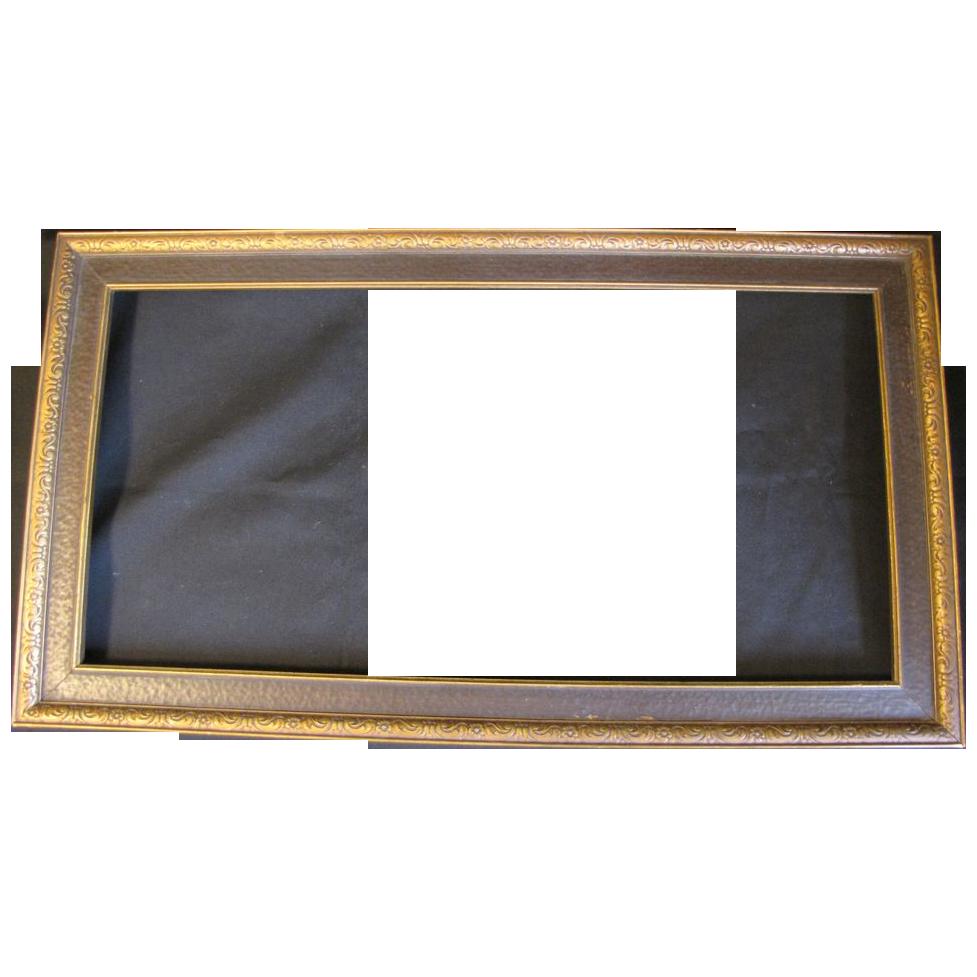 """Lovely 1930's Wood Frame 12 1/2"""" x 22 1/2"""""""