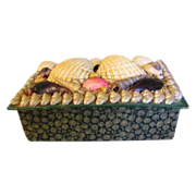 SALE Victorian Sea Shell Box, Made in France