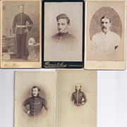 SALE Carte de Visite Photographs, Men in Uniform