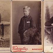 SALE Group of Three Carte de Visite Photographs Boys (Young Men)