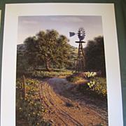 "1982 Limited Edition Print Dennis Schmidt ""RUSTIC RADIANCE"""