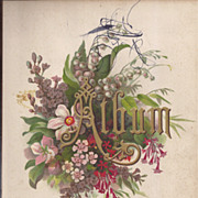 SALE Lovely Title Page from Victorian Album, Flowers