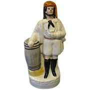 Large Early Single Staffordshire Figure, Portrait