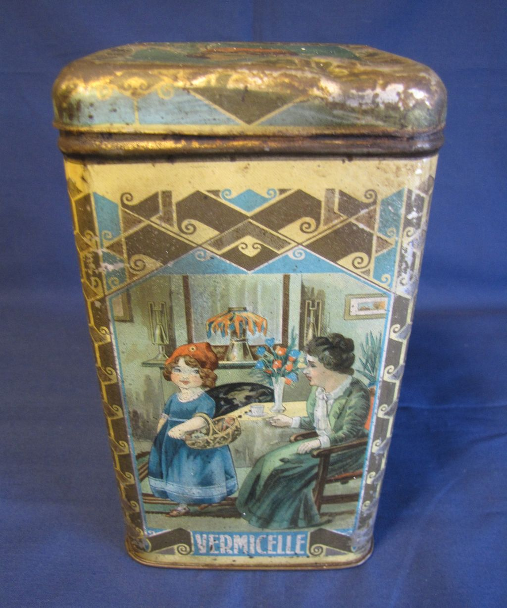 Very Early Advertising Tin, LITTLE RED RIDING HOOD, Vermicelle