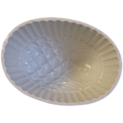 Vintage White Ironstone Pudding Mold, PINEAPPLE, English