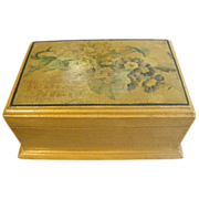 REDUCED Lovely Small Wood Powder Box, Victorian