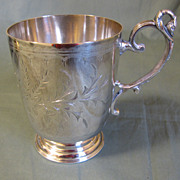 REDUCED Lovely Silver Plate Baby Mug (Cup) Engraved, J.S. McNab