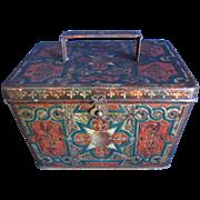 REDUCED Antique British Biscuit Tin, 1899, VIENNESE, Huntley & Palmers