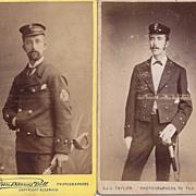 SALE Two Carte-de-Visite Photographs, Men in Uniform