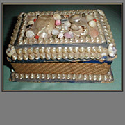 REDUCED Victorian Shell Box, Sailor's Valentine