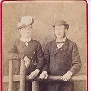 SALE Early Carte-de-Visite of Couple, Man & a Woman
