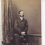 SOLD Early Carte-de-Visite of Young Gentleman Standing, Long Coat