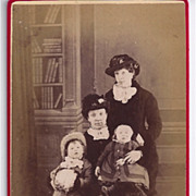 SALE Early Carte-de-Visite of Family Group, 2 Woman & 2 Children