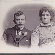 SALE Cabinet Photograph Card of a Young Couple