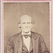 SALE Victorian Photograph Carte De Visite Card, Older Gentleman