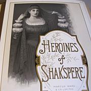 "Lovely Victorian Photo Album, ""Heroines of Shakespeare"""