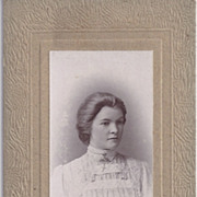 SALE Carte-de-Visite Photo of Beautiful Young Woman
