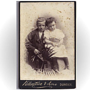 SALE Cabinet Photograph Card, Two Young Children