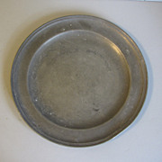 """Vintage French Pewter Plate, 9"""" Diameter"""