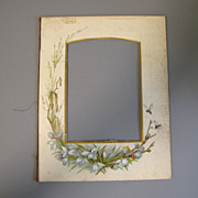SALE Chromolithograph Floral Page from Victorian Photo Album