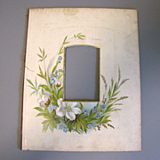 SALE Lovely Chromolithograph Page From Victorian Photo Album