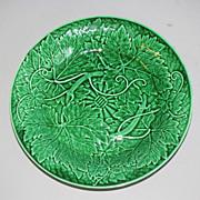 Lovely Vintage Green Majolica Plate WEDGWOOD
