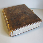 Circa 1880 Leather Bound Photograph Album, Floral Pages