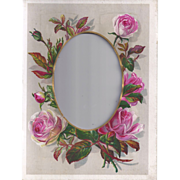 SALE Lovely Chromolithograph Floral Page from Victorian Album