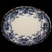 Lovely Flow Blue Platter, CHATSWORTH, Keeling