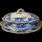 Lovely Flow Blue Vegetable Bowl, ETON, Adderley