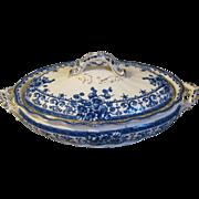 Vintage Flow Blue Vegetable Bowl, OXFORD, K & Co.