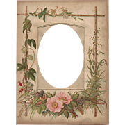 SOLD Lovely Floral Page from Victorian Photograph Album, Cabinet Photograph Opening