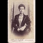 SALE Carte-de-Visite Photograph, Woman in Victorian Dress