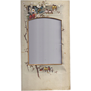 SALE Colorful Page from Victorian Photo Album