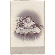 SALE Cabinet Photograph of Smiling Baby