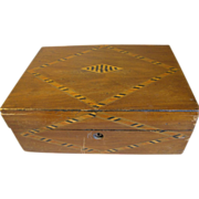 REDUCED Lovely Antique Inlay British Box