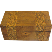 Lovely Victorian  Inlay Wood Double Tea Caddy, English