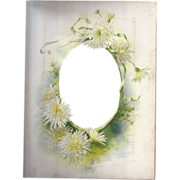 SOLD Lovely Chromolithograph Floral Page from Victorian Album