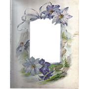 SOLD Lovely Page from Victorian Album, Chromolithograph, Die-Cut