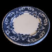 "Lovely Flow Blue Dinner Plate 10"", 4 Available"