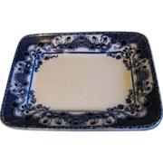 Small Rectangular Platter, Flow Blue
