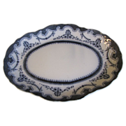Small Flow Blue Platter, PORTSMOUTH, New Wharf Pottery